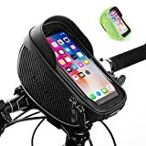 MOKFIRE Bike Phone Holder Bag Bicycle Phone Mount Waterproof Bag Bike Cell Phone Case Handlebar Bag Cycling Phone Pouch Front Frame Bag with TPU Touchscreen for iPhone xs Plus 11 12 pro max Below 6.5'