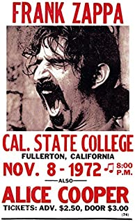 Frank Zappa Poster, Live in Concert, California, 1972, with Alice Cooper