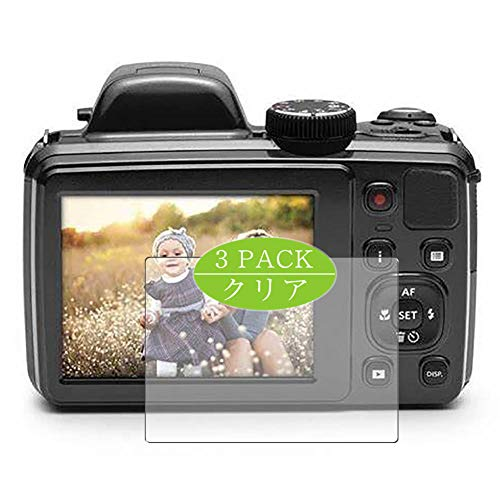 VacFun 3 Piezas HD Claro Protector de Pantalla Compatible con Kodak pixpro Astro Zoom AZ421 / AZ422, Screen Protector Sin Burbujas Película Protectora (Not Cristal Templado) New Version