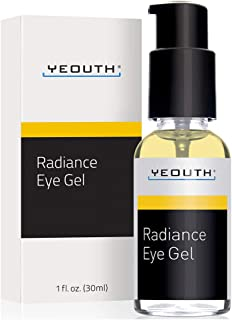 YEOUTH Eye Gel Cream for Anti Aging, Wrinkle Cream, Dark Circles, Puffy Eyes, Eye Bags, Crows Feet, with Hyaluronic Acid Serum and Tripeptide