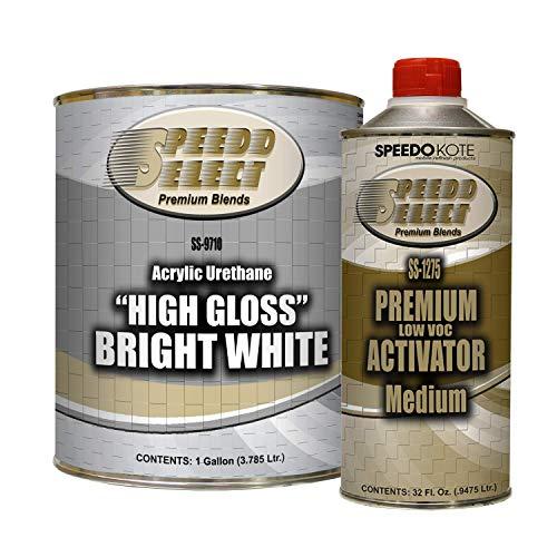 High Gloss Bright White 2K Acrylic Urethane, 4:1 Gallon Kit, SMR-9710/1275