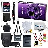 Canon PowerShot ELPH 360 HS Purple 32GB Great Value Holiday Bundle!
