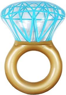 LCSD Juguetes inflables de la Piscina Flotador De Agua Nuevo Anillo De Nado De Diamante Inflable Y Anillo De Piedras Preciosas En El Aro Salvavidas De Agua 2 Paquetes