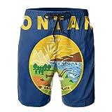 RROOT Montana bandera de verano, impresión 3D, cómodo, para hombre, verano, surf, secado rápido, bañador, pantalones cortos de playa, pantalones cortos con bolsillo Blanco blanco XL