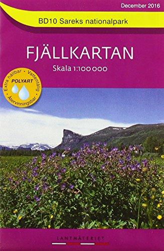 Fjällkartan 1 : 100 000 BD10 Sareks Nationalpark Bergwanderkarte