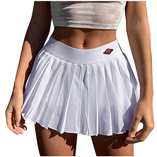 Falda Plisada Delgada De Cintura Alta para Mujer Falda Plisada Basica Mujer Falda Vuelo Escolar Falda Casual Corta Colegiala Japonesa Falda Escocesa para Chicas Disfraz Animadora