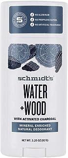 Schmidt's Water + Wood Mineral Enriched Natural Deodorant Stick, 3.25 oz / 92 g