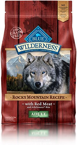 Blue Buffalo Wilderness Adult Rocky Mountain Recipes Red Meat - Grain Free 4 lb by Blue Buffalo