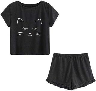 pantaloncini corti BOBORA Pigiama in cotone 2 pezzi maglietta con bretelline