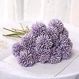 5 flores artificiales de seda para decoración del hogar, decoración de boda,...