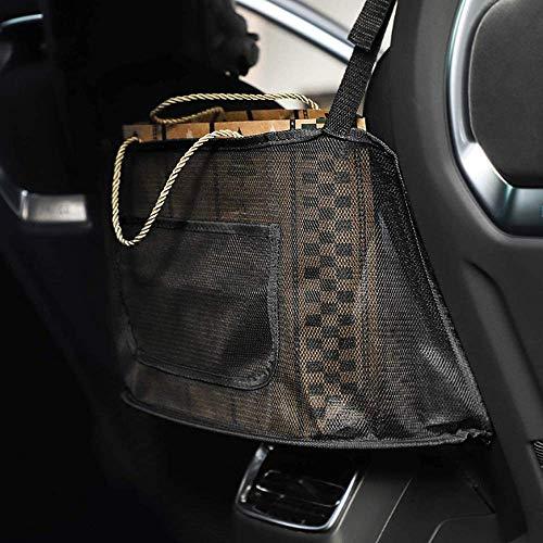 Car Net Pocket Handbag Holder,Car Seat Storage Organizer ,Car Backseat Organizer,Seat Back Net Bag,Car Storage for Purse Phone Documents (black)