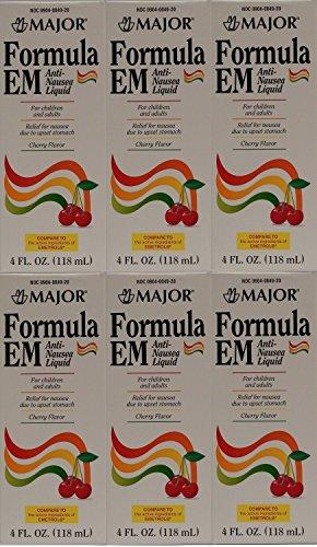 Price comparison product image Formula EM Generic for Emetrol Nausea & Upset Stomach Relief Cherry Flavor 4 oz. Bottle Pack of 6 Total 24 oz.