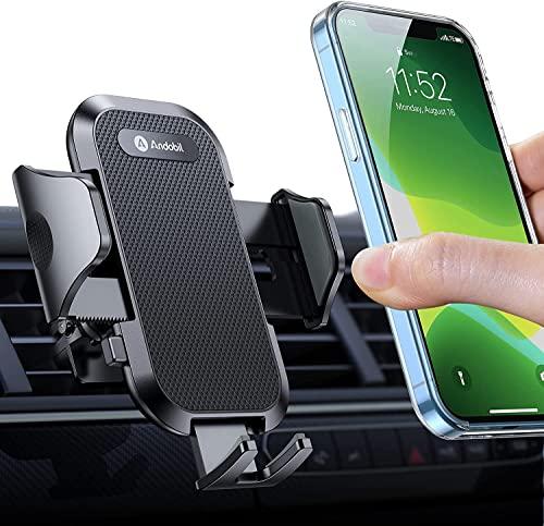 Montaje del teléfono del automóvil, [2021 Clip robusto mejorado] Soporte de teléfono del teléfono Ventilación de aire, [Grip y nunca se caigan] cunas de teléfono móvil, compatibles con iPhone 13 12 Pr