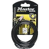 Master Lock LKM8126 Câble Antivol Vélo à Spirale 1,80m x 8Mm pour Vélo/Poussette/Trottinette avec Serrure à Clé