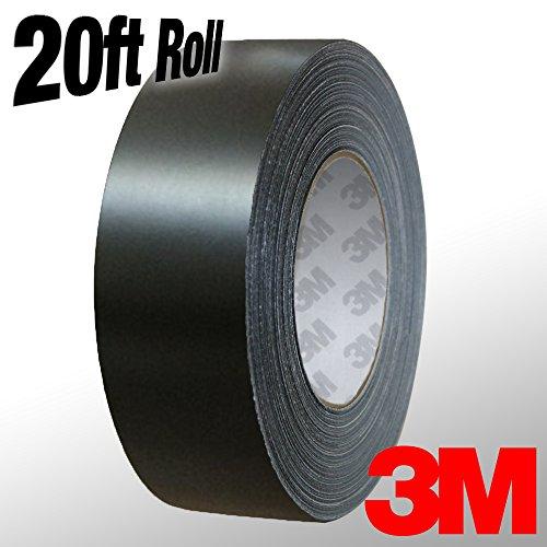 VViViD 3M 1080 Black Matte Vinyl Detailing Wrap Pinstriping Tape 20ft Roll (2 Inch x 20ft roll)
