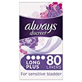 Always Discreet Incontinence Liners for Women, 80 High Absorbency Liners