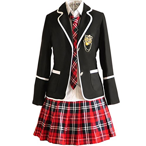 URSFUR Mädchen Japan Kostüm Langärmelige Anzug Cosplay Uniform Anime Uniform - Style 10 - S (Herstellergröße: M)