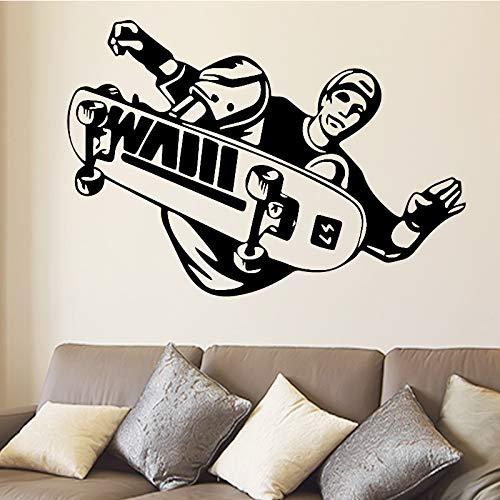 Tianpengyuanshuai Sport muur sticker skateboarder stunt stunt flip sprong skateboard muur sticker sport sticker voor thuis decoratie