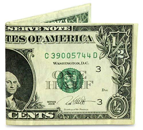 Mighty Wallet Herren Geldbörse Half Dollar super dünn, leicht, Tyvek Billfold