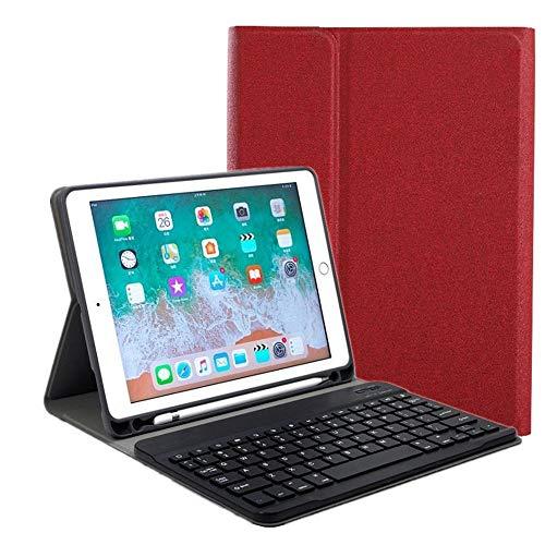 ペンホルダー付き iPad アイパッド 9.7インチ キーボード ケース 2019 新型 9.7inch iPad6 iPad5 iPad Air2 iPadPro9.7 分離式 スマートキーボード付き カバー Apple Pencil 収納用ホルダー内蔵