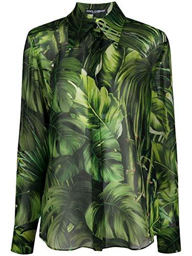 DOLCE E GABBANA Luxury Fashion Damen F5N27TIS1DKHN1RA Grün Hemd   Frühling Sommer 20