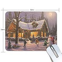 マウスパッド 雪花 雪だるま クリスマス ゲーミングマウスパッド 滑り止め 19 X 25 厚い 耐久性に優れ おしゃれ