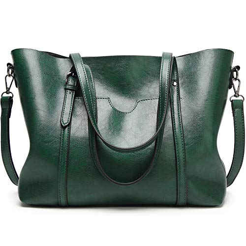 Shoulder Bags For Women Tote Fashion Satchels Classic lady Purses For Woman Handbag Work Top Handle Bags Designer Green Size: L