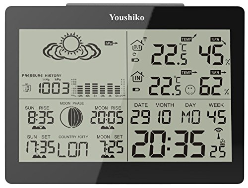 Youshiko YC9360 Digital Weather Station with Radio Controlled Clock (...