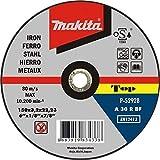 Makita P-52174 P-52174-Disco abrasivo para Corte de Metal 115x22,23x3,2 mm, Nero
