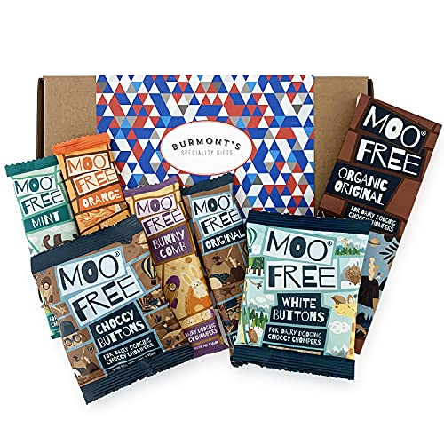 Moo Free Ultimate Chocolate Selection Hamper Gift Box - Dairy Free, Organic, Gluten Free & Vegan - Hamper Exclusive To Burmont's