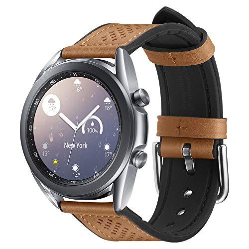 Spigen Retro Fit Compatible con Samsung Galaxy Watch 3 41mm Correa Band (2020) / Galaxy Watch Active 1&2 (2019) / Galaxy Watch 42mm (2018) / Gear S2 Classic, 20mm Smartwatch Band - Marrón