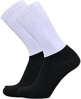 WZDSNDQDY Calcetines de Tubo para Hombre Calcetines de Baloncesto en Blanco y Negro Material de Nylon Transpirables y portátiles Calcetines para Montar al Aire Libre