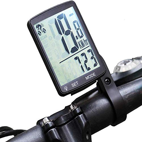 Bicicleta del velocímetro LCD de bicicletas ordenador cuentakilómetros inalámbrico impermeable bicicletas podómetro...