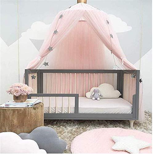 jsadfojas Moskitonetz Baby Baldachin Betthimmel Kinder Bett Hängende Moskiton für Reise und Zuhause Zeit Höhe 240 cm (240 x 260 cm, Rosa7)