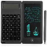 Baalaa Calculadora Bloc de notas de 6 pulgadas LCD de escritura tableta digital con lápiz capacitivo Borrar botón bloqueo función negro