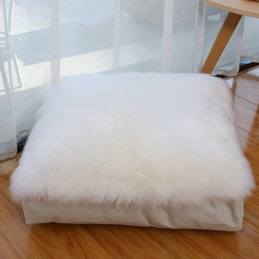 Max 55% OFF Soft Floor Pillow Cover 25% OFF Real Seating Fur Cushion Unstu Sheepskin