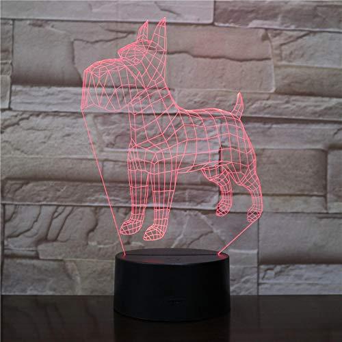 Luces De Noche Led 3D Animales Perros 7 Colores Que Cambian Doberman Novedad Niño Hogar Pinscher Lámpara De Mesa Decoración Regalos