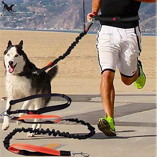 Vunce hondenriem voor honden met elastiek handsfree voor huisdieren, hondenhalsband voor joggen en verstelbare riem voor treksnoer voor huisdieren