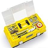 WLL Caja de Herramientas Plegable portátil multipropósito de 3 Capas y 17 Pulgadas con Cubierta de plástico Transparente, Fuerte Capacidad de Carga y Larga Vida útil, Adecuada para la Familia