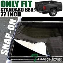 Topline Autopart Hidden Snap On Vinyl Truck Bed Tonneau Cover For 97-04 Dodge Dakota Regular (Standard) / Club (Extended) Cab 6.5 Feet (78