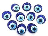 Nazar Boncuk Boncugu 2,5 / 3 / 4 / 5 cm ojos azules, Evil Eye, amuleto de la suerte turco, regalo para invitados, perlas de cristal, decoración, amuleto, colgante, 5 cm, 10