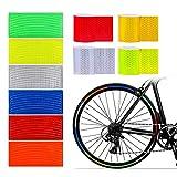 MHwan cinta fluorescente, pegatinas reflectantes, Cinta de advertencia de seguridad de alta visibilidad Reflector a prueba de agua para vehículos Autos Remolques Bicicletas Cascos, 5x300cm, 10 piezas