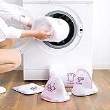 sac de lavage de linge soutien-gorge portable sous-vêtements chaussette chemise vêtements lavage protégeant le sac en filet épaissir le sac en filet de machine à laver-blanc