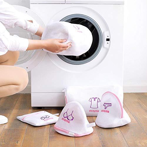 bolsa de lavado de ropa sujetador portátil ropa interior calcetín camisa lavado de ropa bolsa de malla protectora espesar bolsa de red para lavadora-Azul