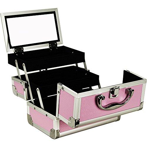 JustCase Pink Kosmetikkoffer mit Spiegel