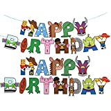Toy Story Happy Birthday Banner For Kids Toy Story Party Decorations Supplies