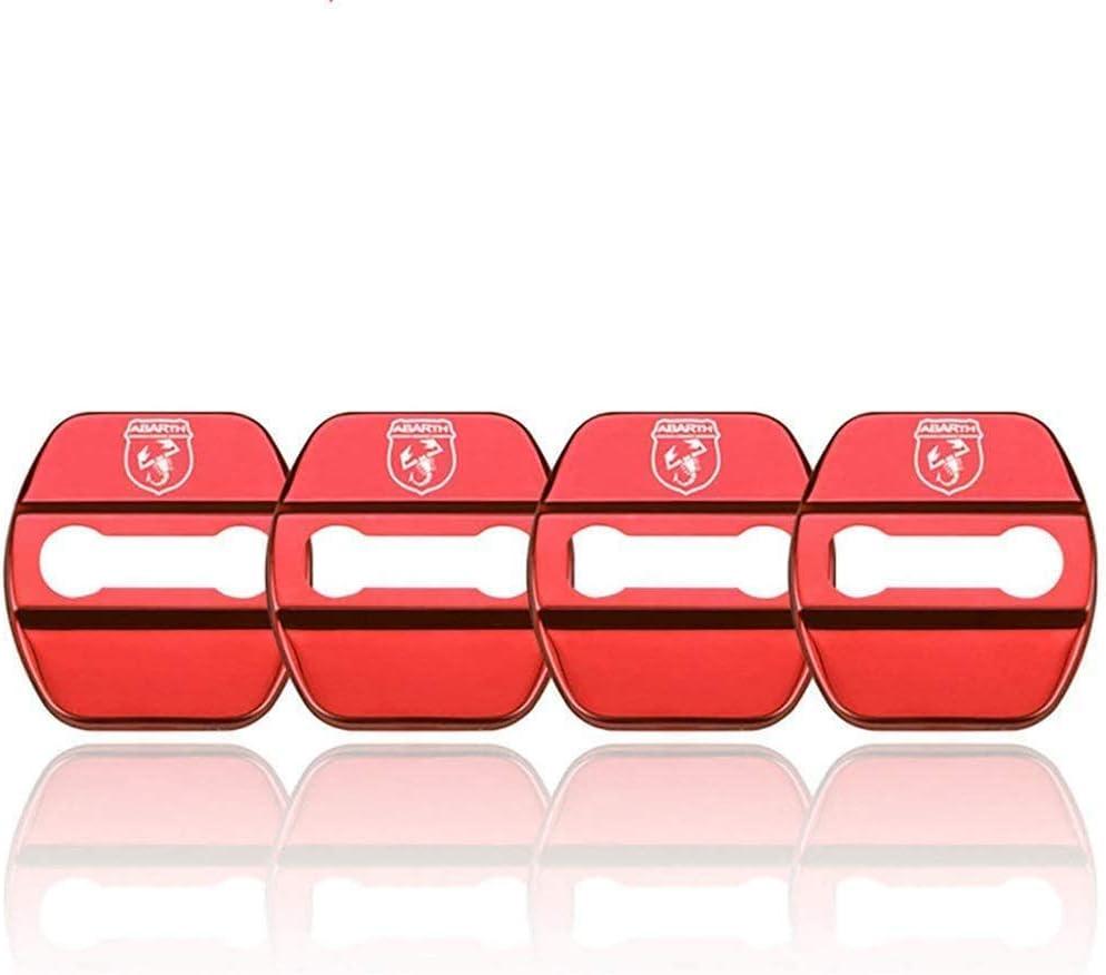 N A 4pcs Car Styling Türschlossabdeckung Für Fiat Abarth 500 500l 500x Viaggio Ottimo Bravo Door Lock Cover Türschloss Schließkappe Edelstahl Auto Protection Zubehör Küche Haushalt