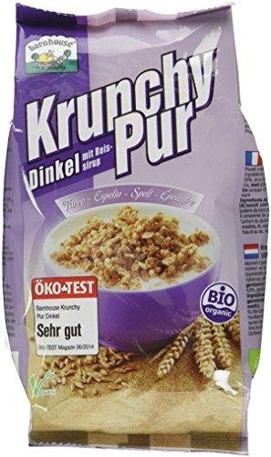 Barnhouse Krunchy Pur Dinkel, 3er Pack (3 x 375 g Beutel) - Bio