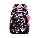 Mochila escolar para niños, niña, mochila escolar de nailon impermeable, mochila escolar para niños, lindo estuche, caja de papelería, regalo de Navidad
