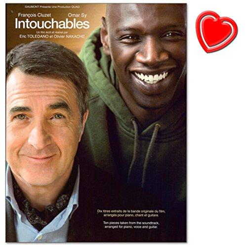 Intouchables: Original Soundtrack - 10 stuks uit de Franse bioscoopensatie Intouchables gearrangeerd voor piano, gitaar en zang - met hartvormige muziekklem